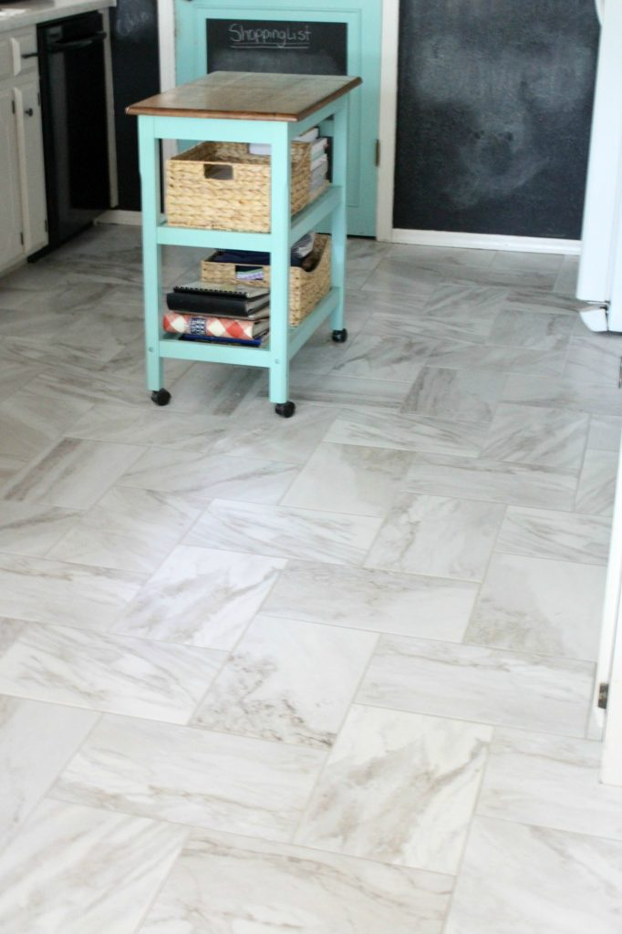New kitchen floor tile