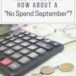 No Spend September 2018 Edition