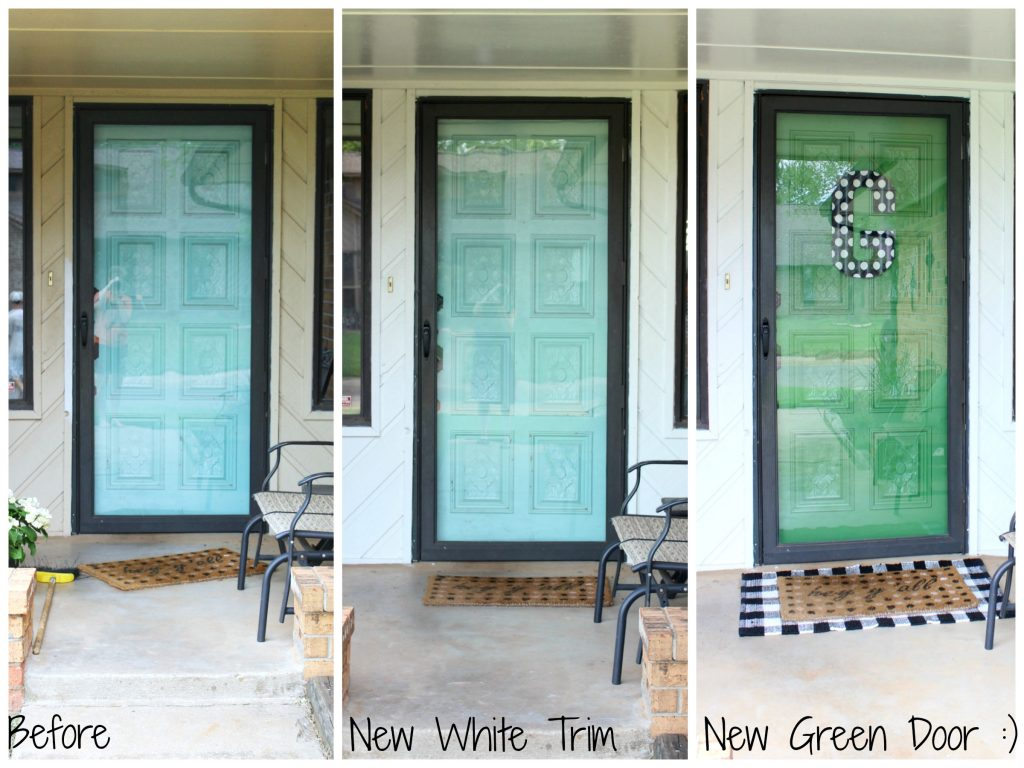 Progression of a front porch makeover
