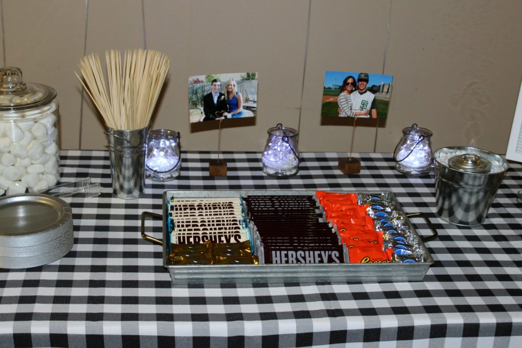 rehearsal dinner s'mores table