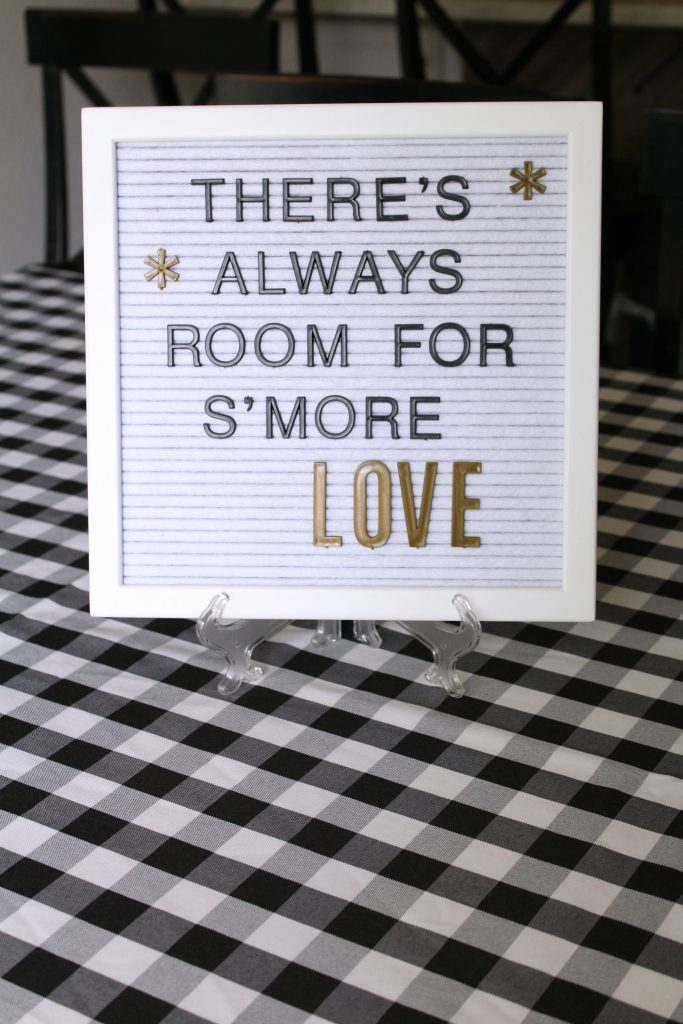 There's always room for s'more love letterboard sign