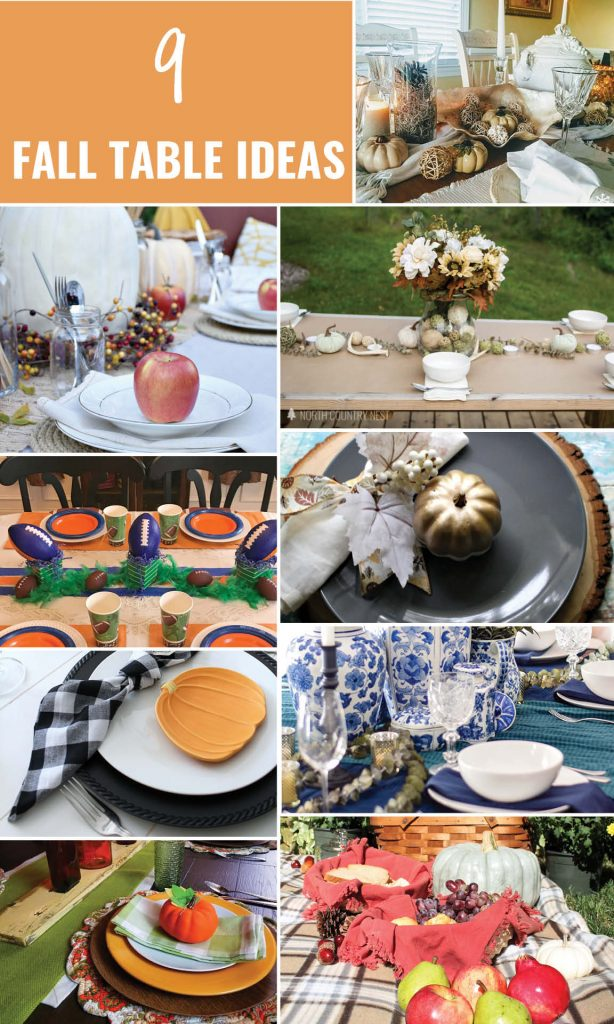 9 Fall Table Ideas