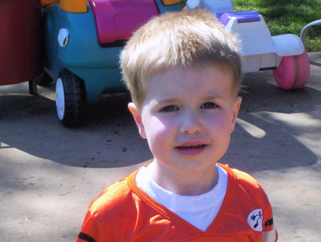 Caleb as a toddler