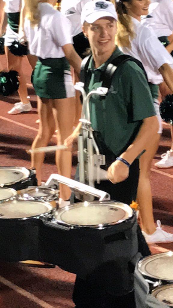 Caleb drumming