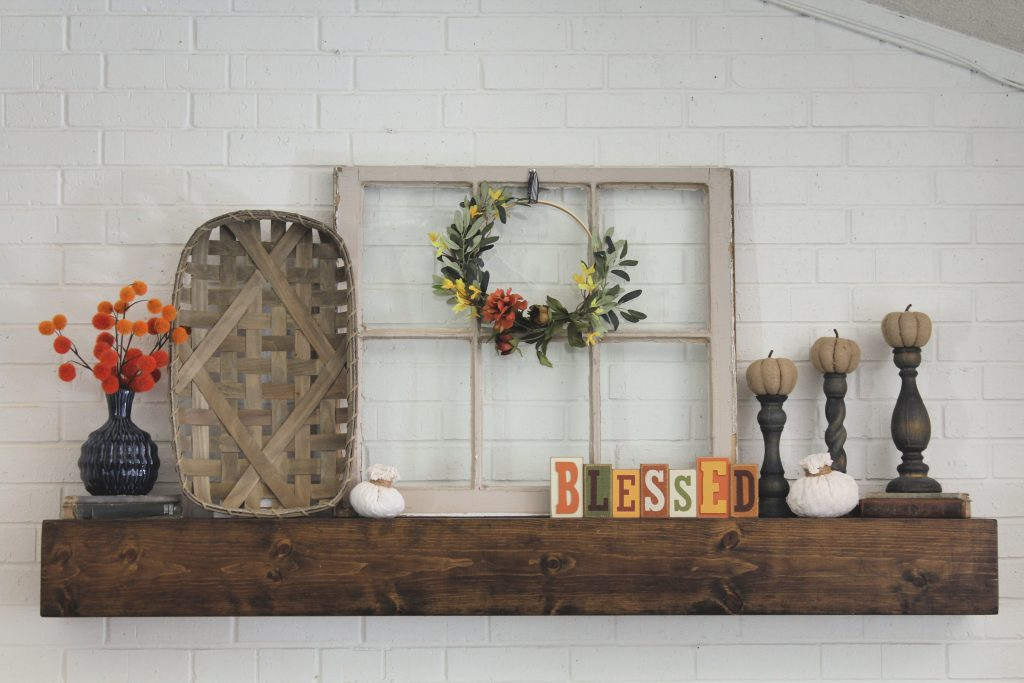 Blessed Natural Fall Mantel