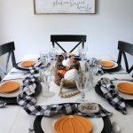 Pumpkin & Gingham Fall Tablescape