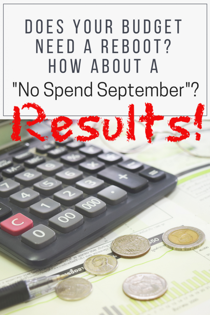 No Spend September Results