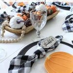 Pumpkin & Gingham Fall Tablescape
