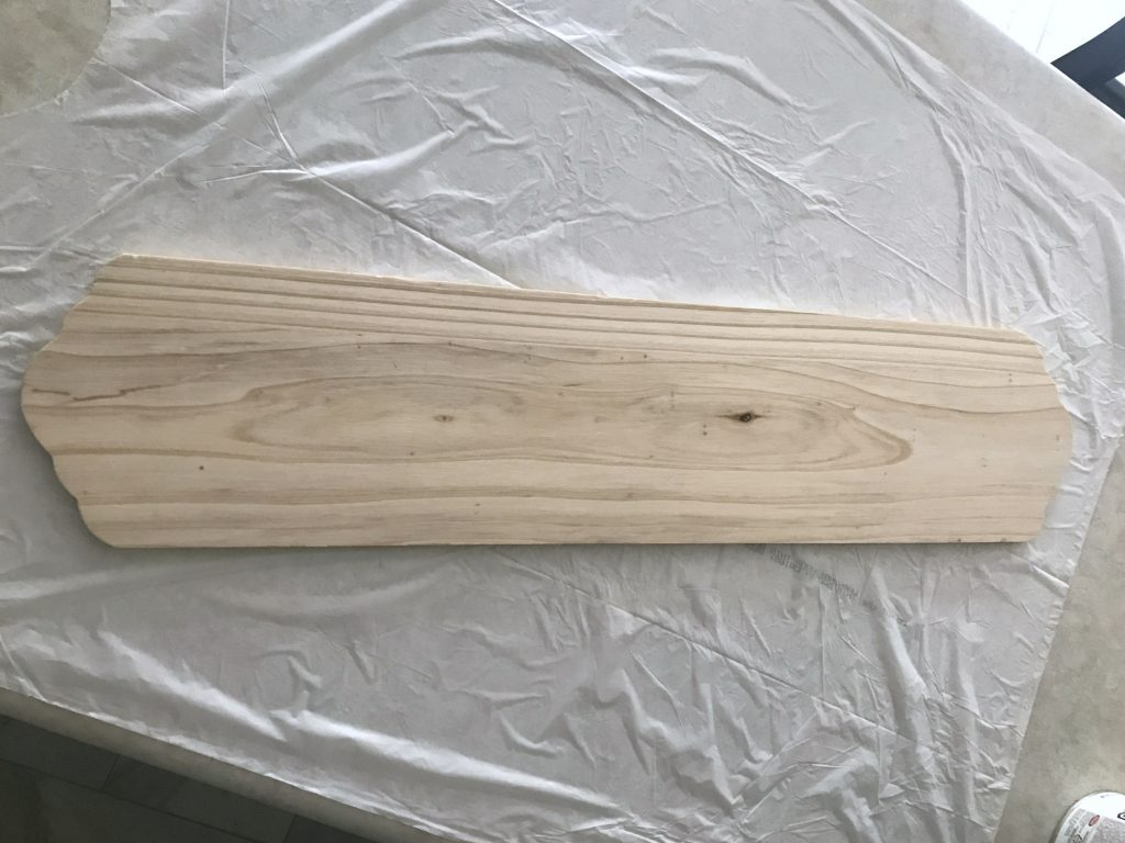 Unfinished wood sign