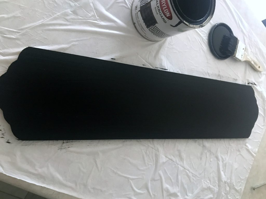chalkboard paint sign