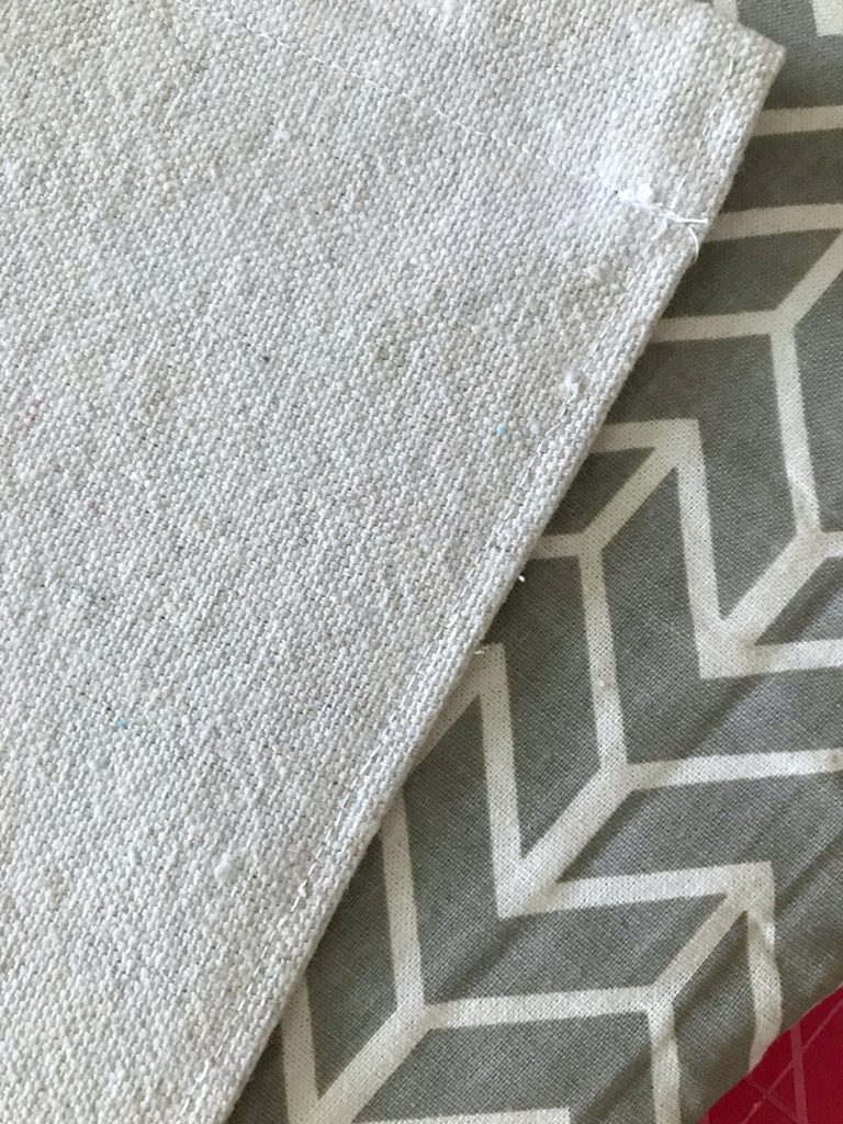 Rolled hem for DIY garden flag