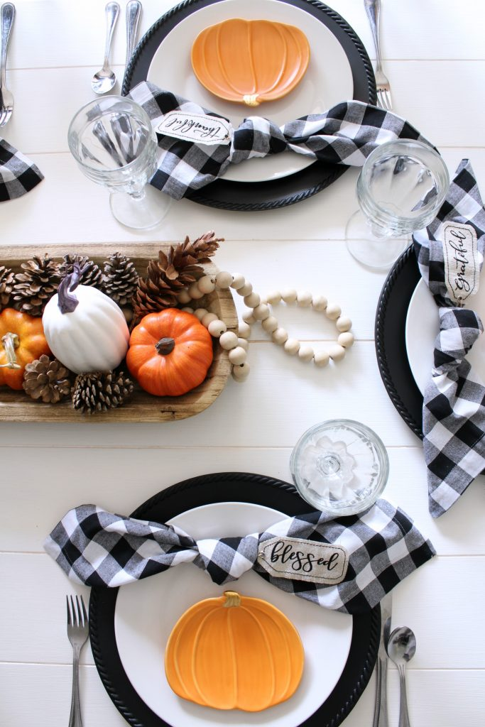 Fall table place setting