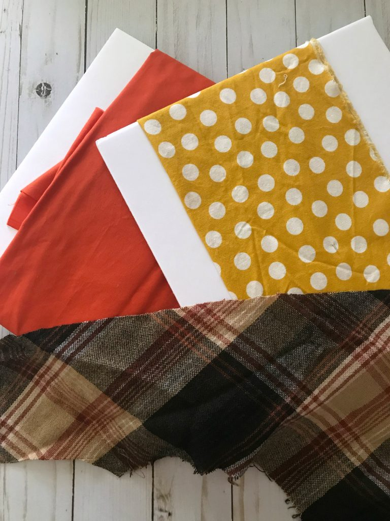 Fall fabric for DIY fall garden flag