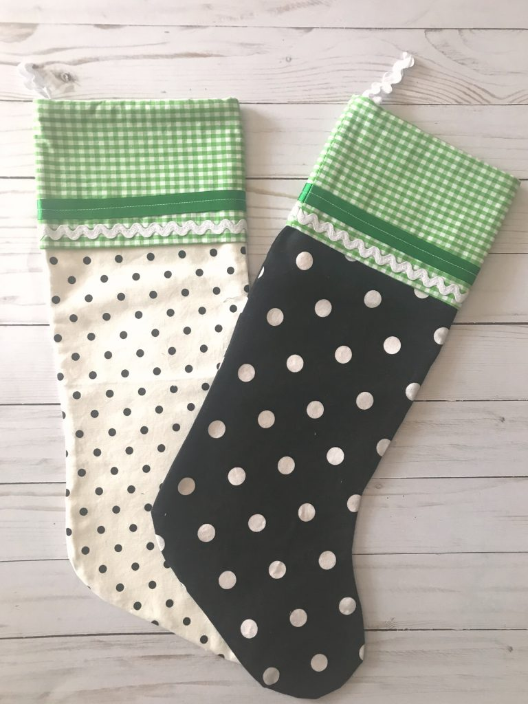 Black white and green Stockings