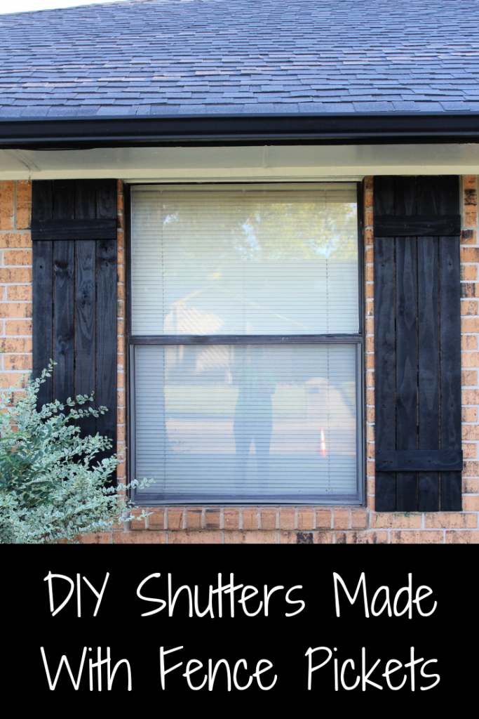 DIY Shutters Made With Fence Pickets