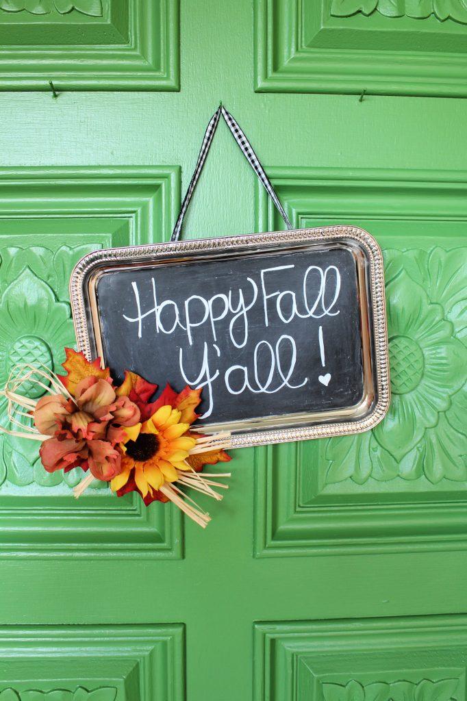 Happy Fall Y'all sign