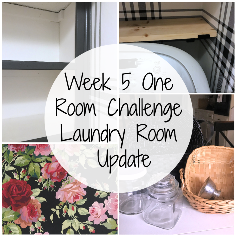 Week 5 One Room Challenge Laundry Room Update