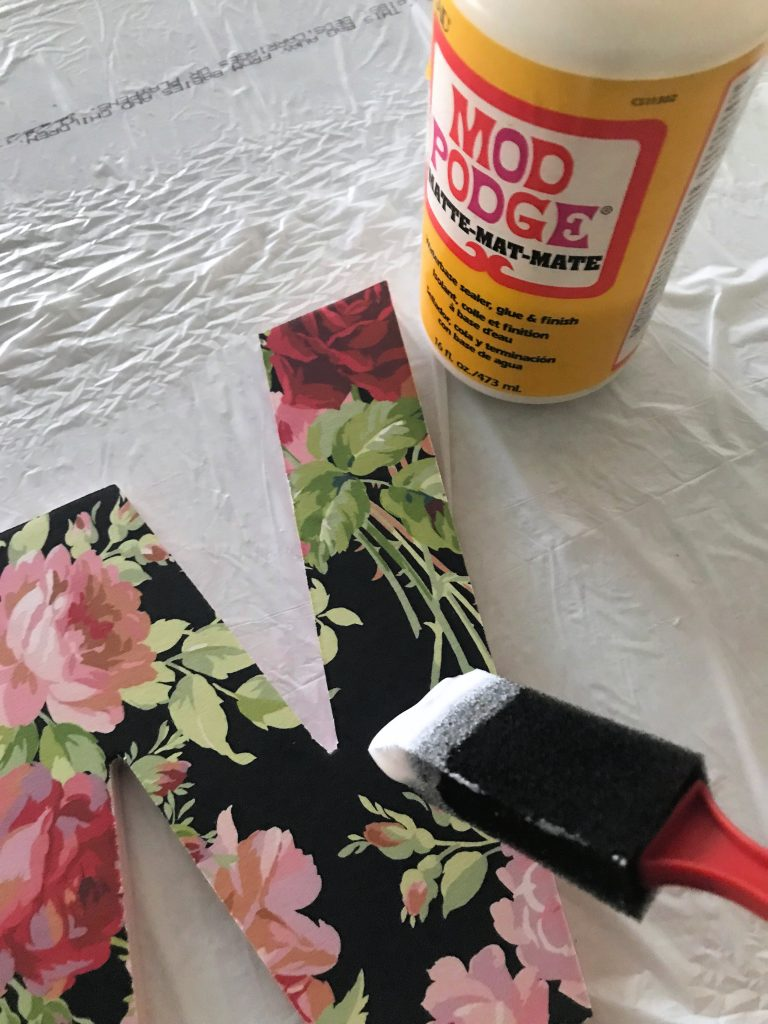 top coat of Mod Podge