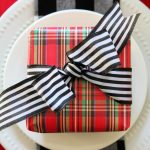 Red & Tartan Plaid Christmas Tablescape