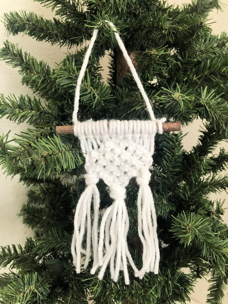 DIY Macrame Christmas Ornament