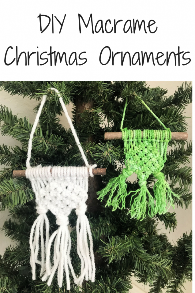 DIY Macrame Christmas Ornaments