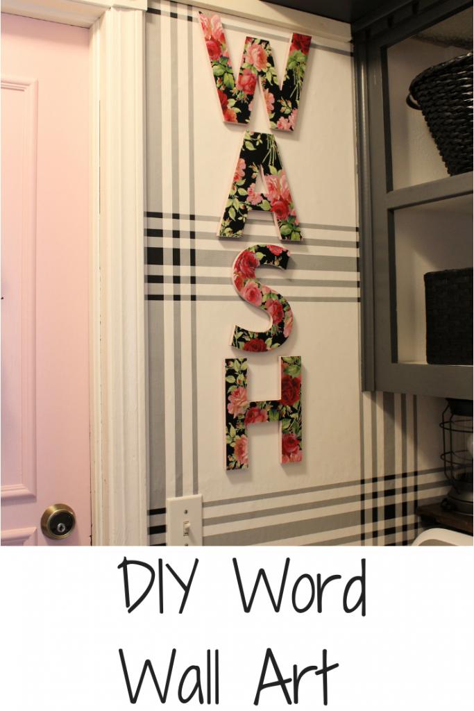DIY Word Wall Art