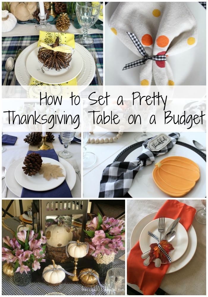 How to Set a Pretty Thanksgiving Table on a Budget