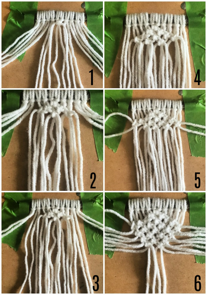 Diamond macrame pattern
