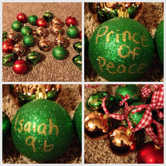 DIY Advent ornaments