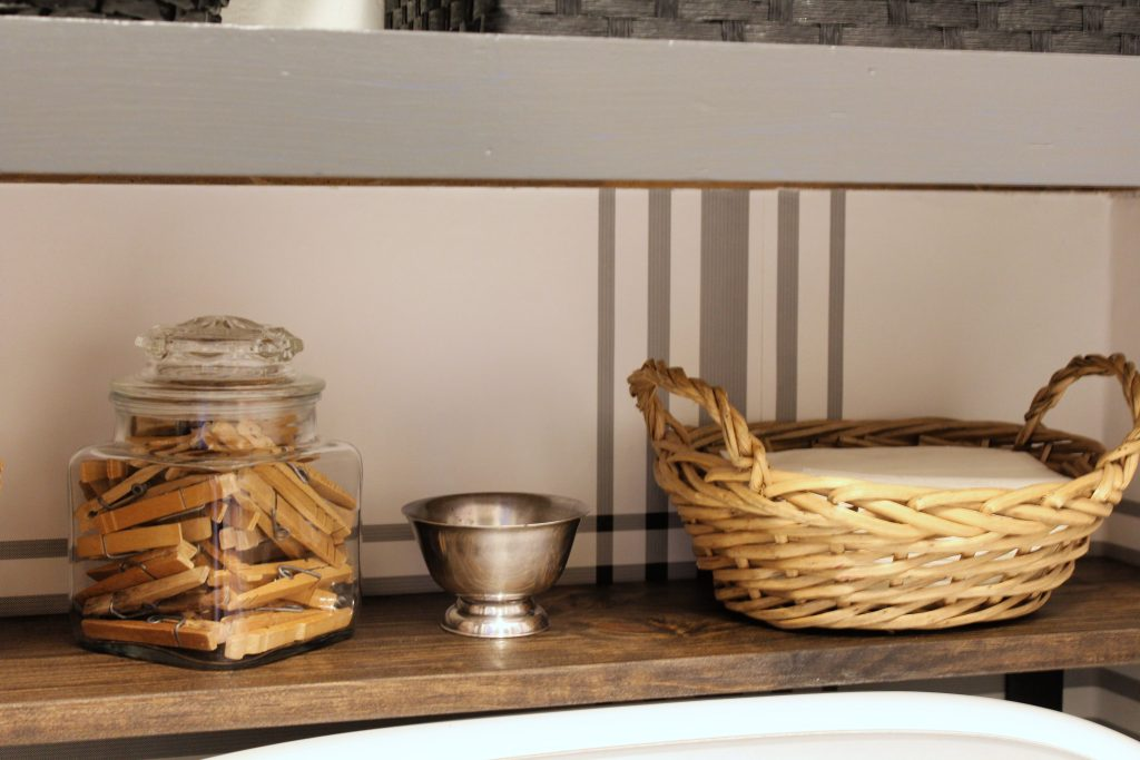 Cute storage in the Laundry Room