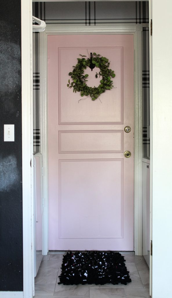 Pink Door in Laundry Room