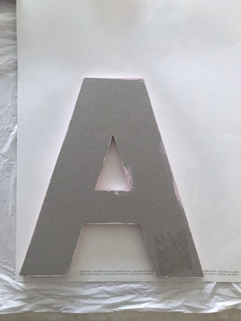 Attach letter to paper