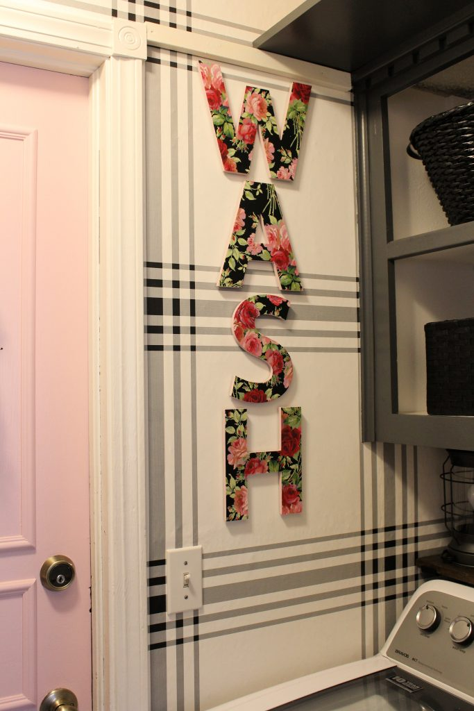 WASH floral letters