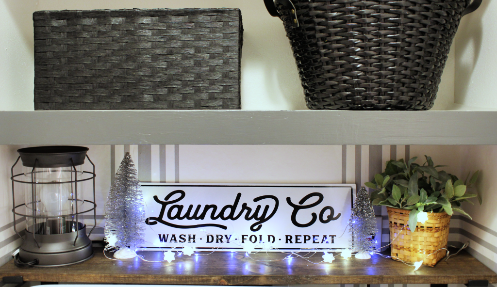 Laundry room Christmas decor
