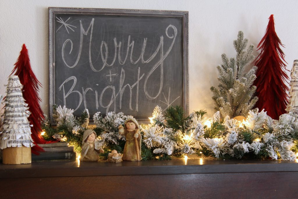 Merry and Bright Christmas decor