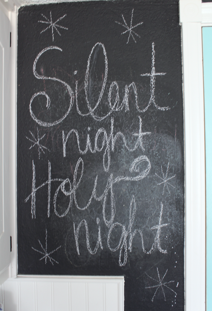 silent night holy night chalkboard lettering