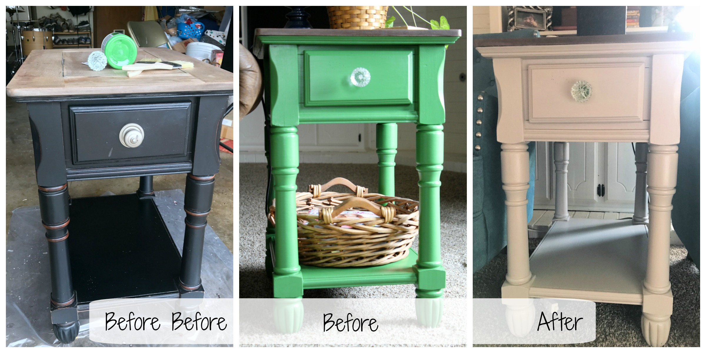 Side table transformation in steps