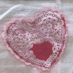 Heart Stenciled Tea Towels/Napkins