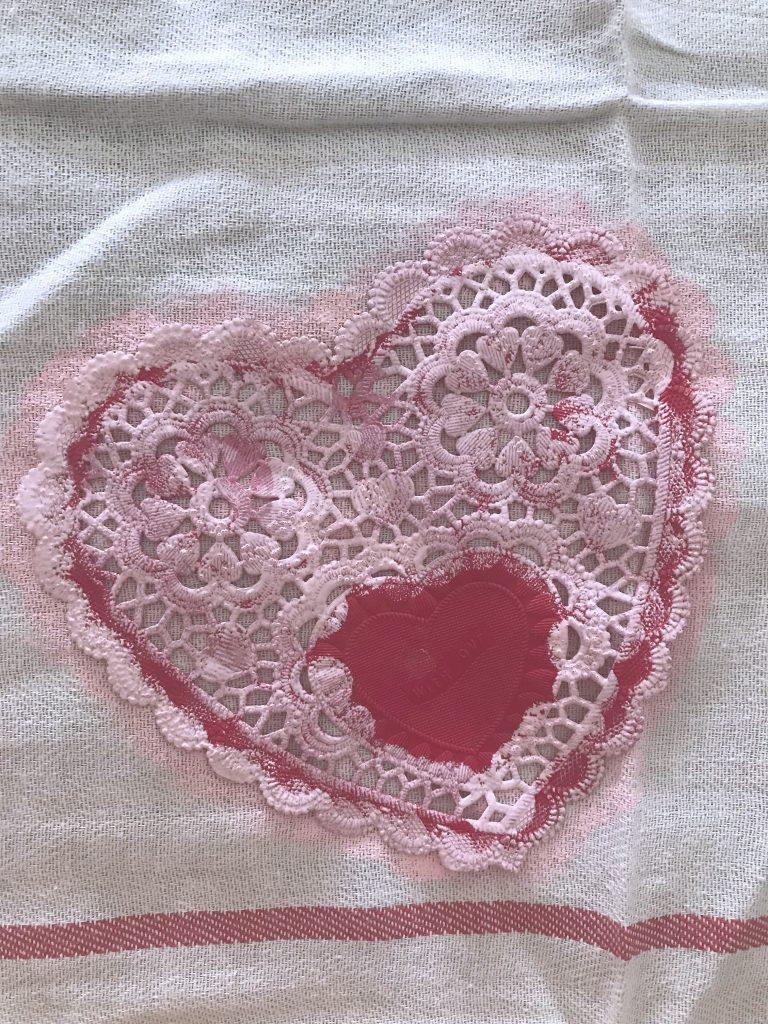 DIY heart stencil