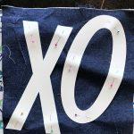 DIY XOXO Pillow Cover