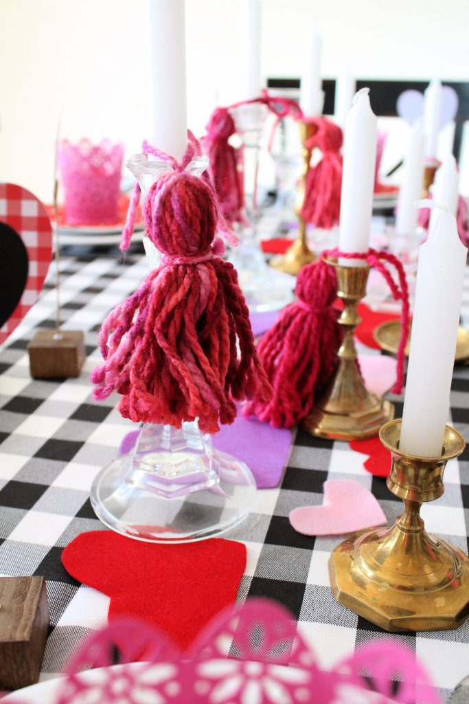 Tassel decor for candlesticks