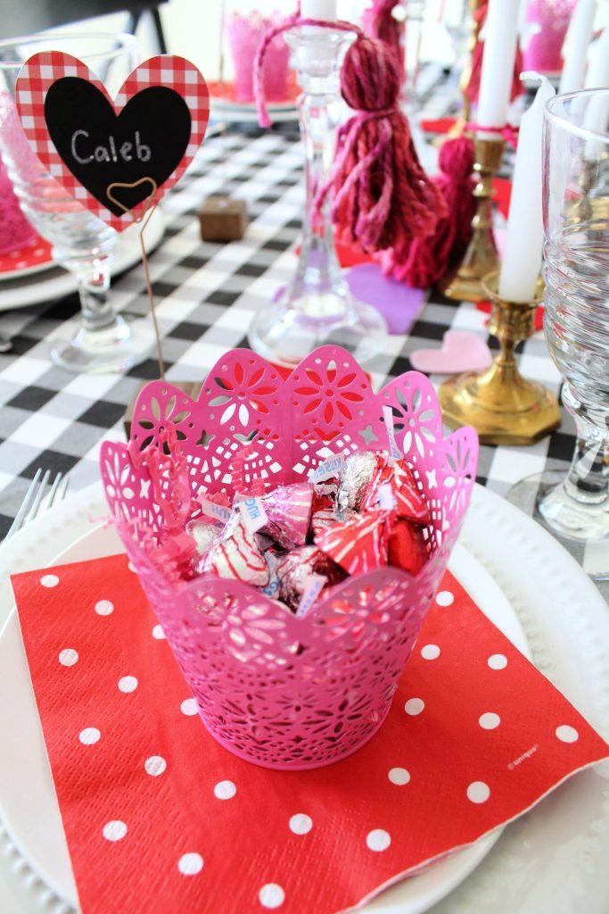 Valentine's Day treat buckets
