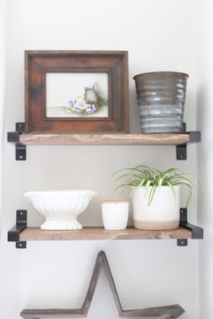 Simple Shelf Styling