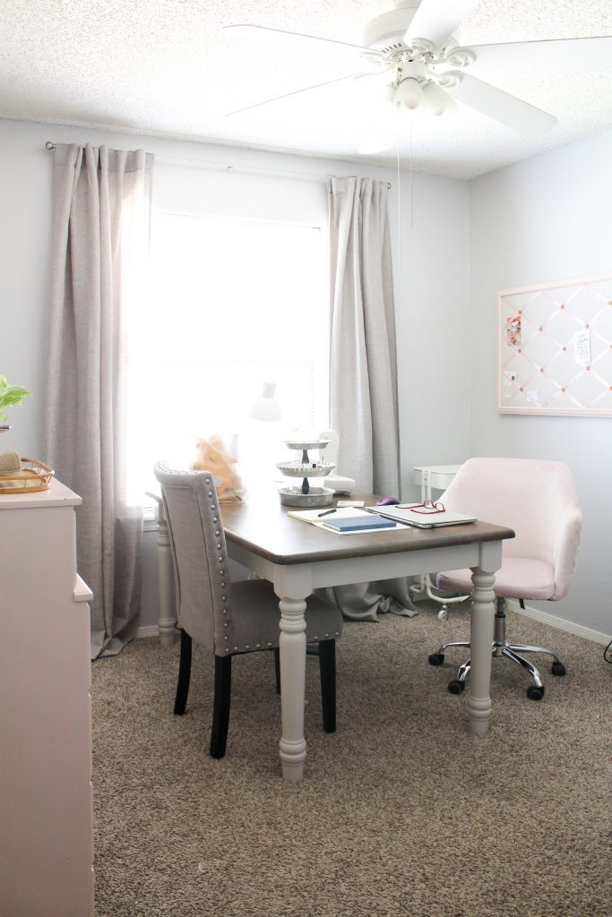 Modern Farmhouse Craft Room + Home Office