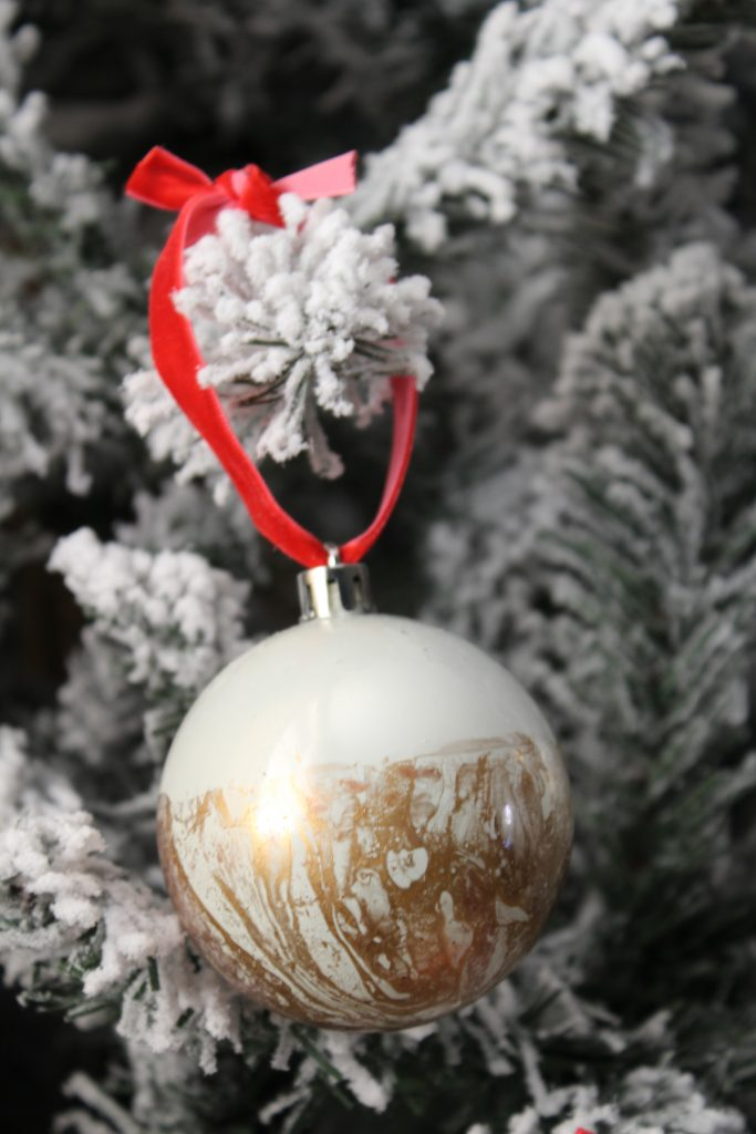 Hydro Dipped Christmas Ornaments