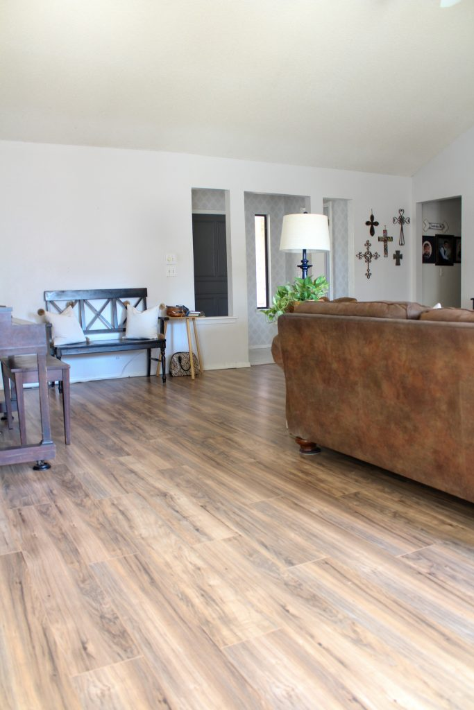 New Laminate Flooring in Family Room