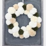 Neutral Christmas Pom Pom Wreath