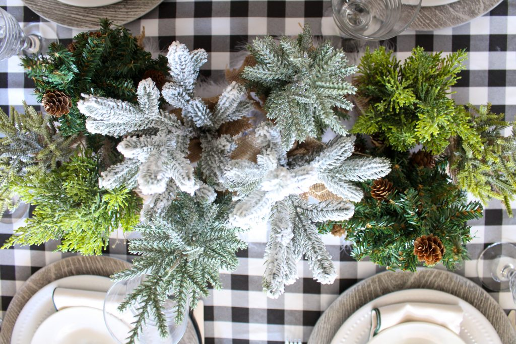 Woodland Christmas Tablescape Centerpiece