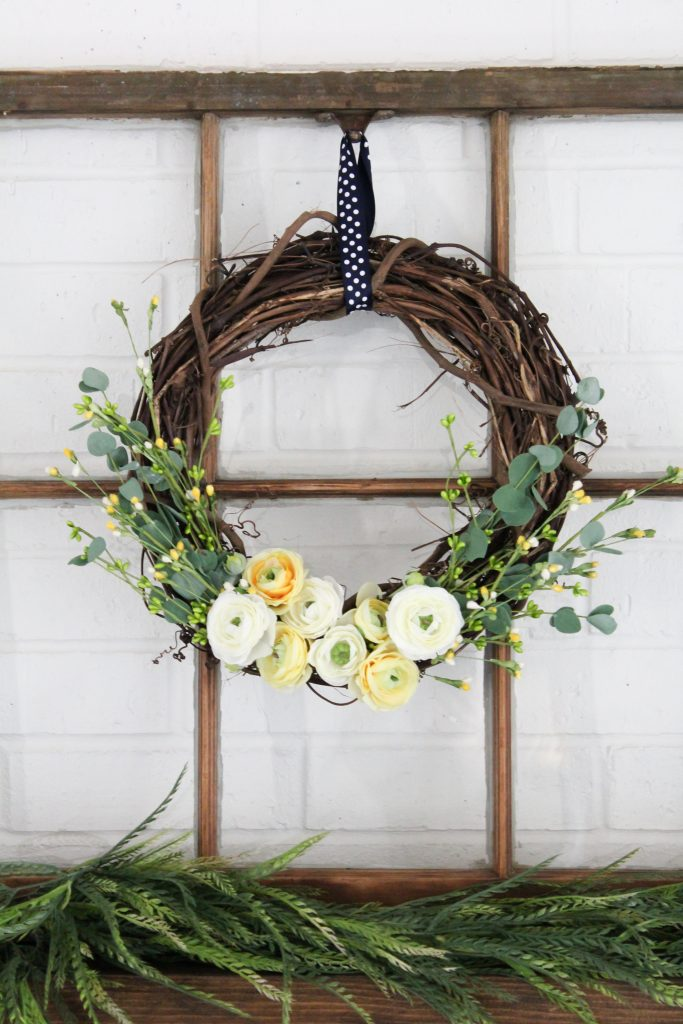 DIY Spring Grapevine Wreath