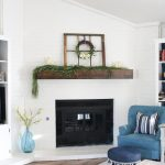 Spring Mantel and Spring Decor